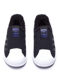 Adidas 'Superstar Winter 360 I' mesh toddler slip-on sneakers