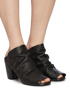 Marsèll 'Coltello' creased leather mules