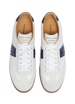 Detail View - Click To Enlarge - MAGNANNI - Suede panel leather sneakers