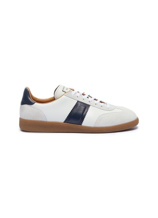Main View - Click To Enlarge - MAGNANNI - Suede panel leather sneakers