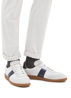 Magnanni Suede panel leather sneakers