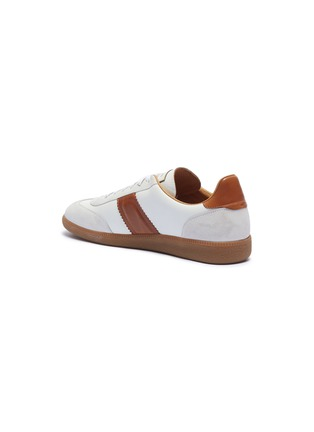 - Magnanni - Suede panel leather sneakers