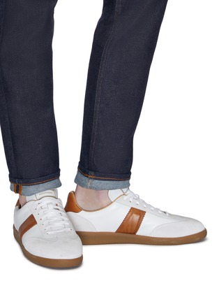 Figure View - Click To Enlarge - Magnanni - Suede panel leather sneakers