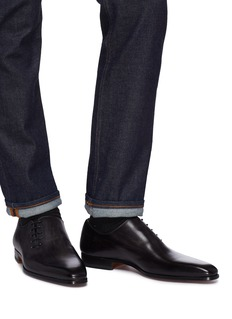 Magnanni Slant lace-up leather Oxfords