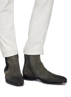 Magnanni Zip suede Chelsea boots