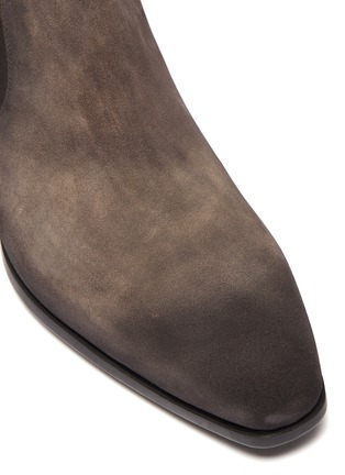 Detail View - Click To Enlarge - MAGNANNI - Zip suede Chelsea boots