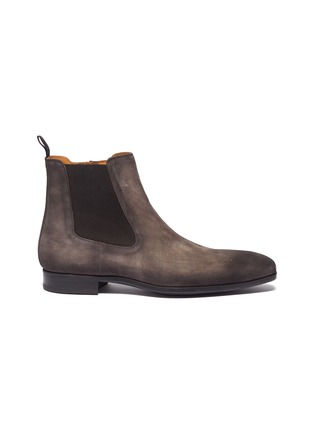 Main View - Click To Enlarge - Magnanni - Zip suede Chelsea boots