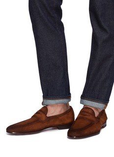 Magnanni Suede penny loafers