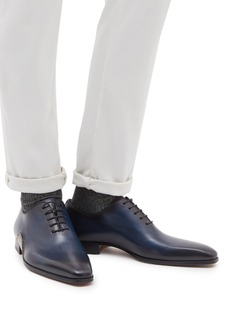 Magnanni Stitched detail leather Oxfords