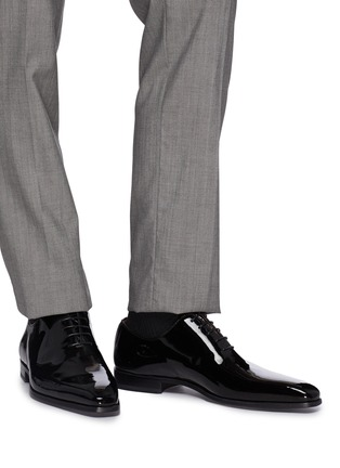 Figure View - Click To Enlarge - MAGNANNI - Patent leather Oxfords