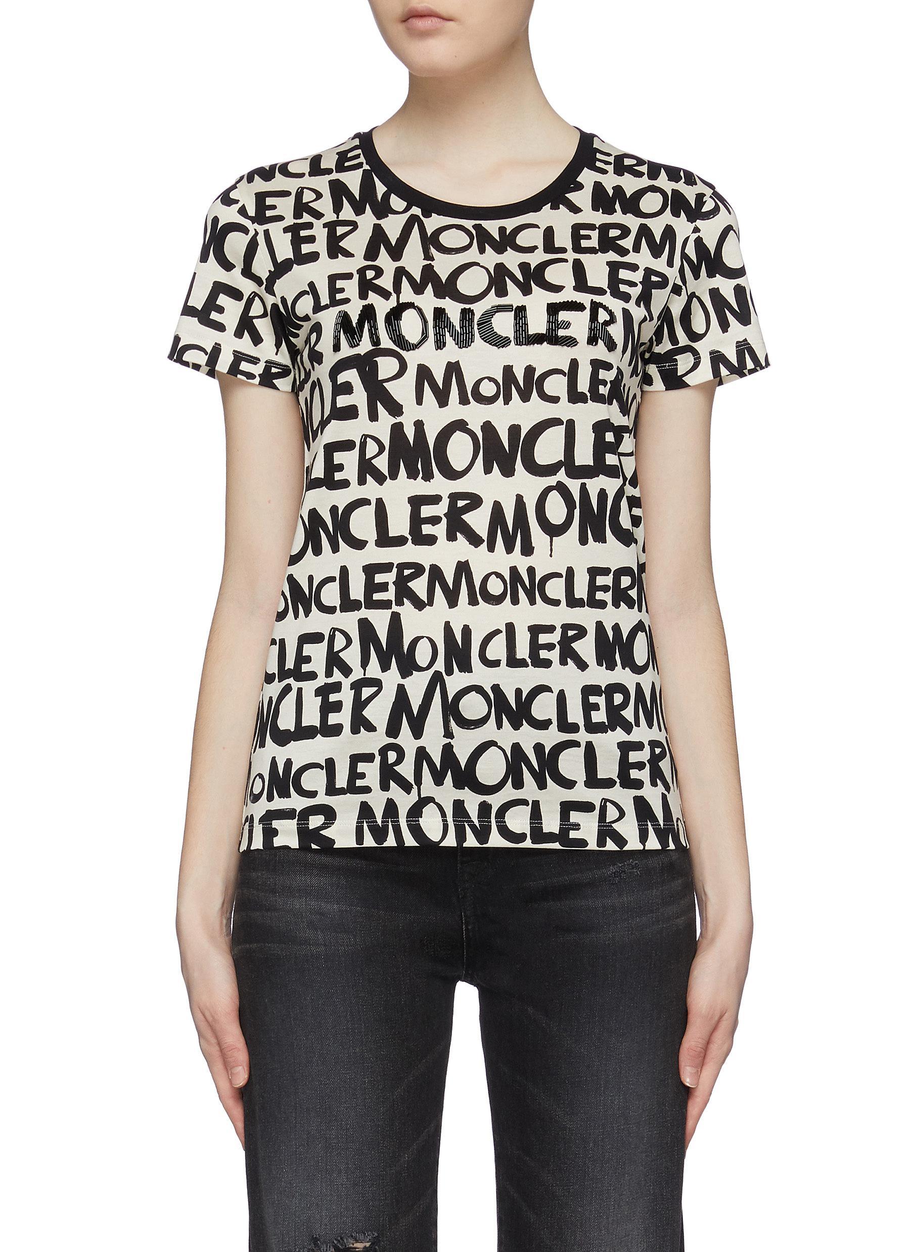 Buy Moncler Tops Logo print T-shirt