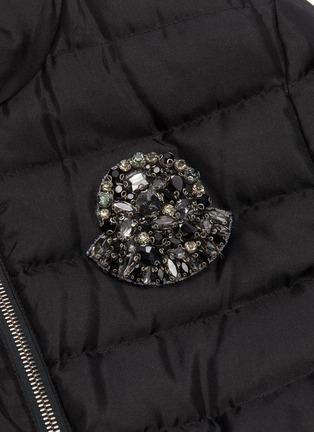 - MONCLER - 'Prince' ribbon waist embellished logo down puffer jacket