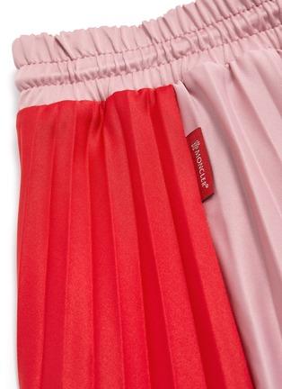 - MONCLER - Colourblock pleated midi skirt