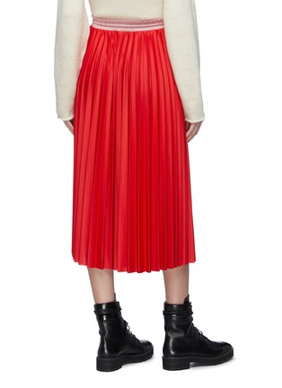 Back View - Click To Enlarge - MONCLER - Colourblock pleated midi skirt