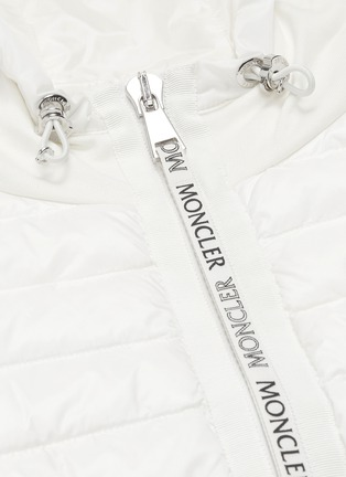 - MONCLER - 'Maglia' down puffer front panel zip hoodie