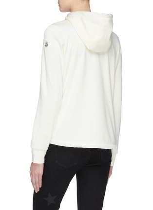 Back View - Click To Enlarge - MONCLER - 'Maglia' down puffer front panel zip hoodie