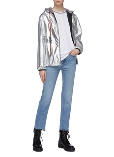 Moncler 'Mikae' contrast drawstring metallic hooded windbreaker jacket
