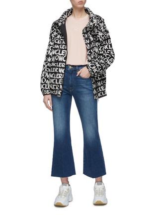 Figure View - Click To Enlarge - MONCLER - Detachable hood logo print jacket