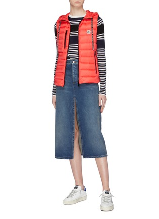 Figure View - Click To Enlarge - MONCLER - 'Sucrette' hooded down puffer vest