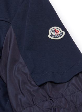 - MONCLER - Patchwork sleeve zip back sweatshirt dress