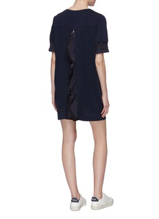 Moncler Patchwork sleeve zip back sweatshirt dress