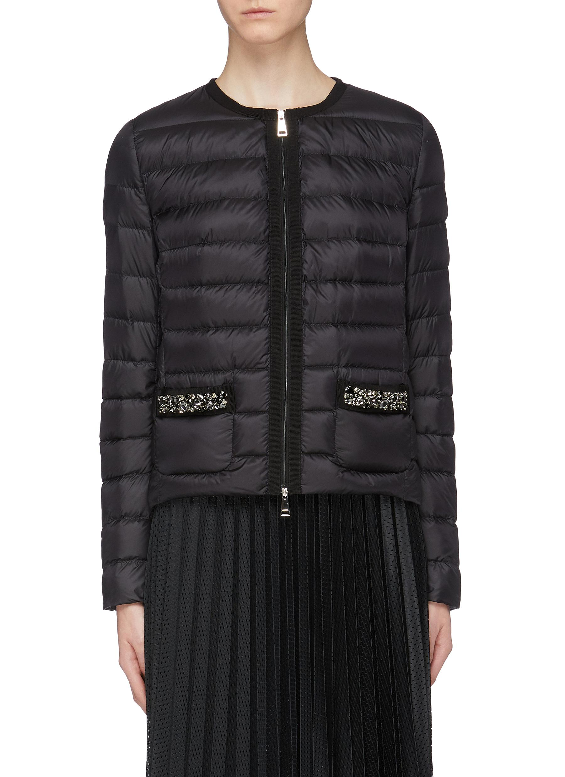 877c910eaea Main View - Click To Enlarge - Moncler -  Christalline  embellished pocket  down puffer