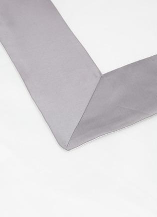 Detail View - Click To Enlarge - FRETTE - Bold standard sham - Milk/Cliff Grey