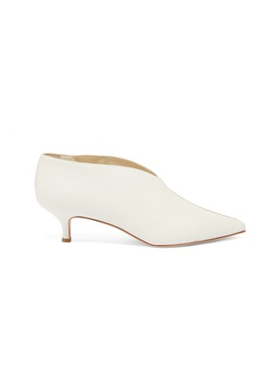 Main View - Click To Enlarge - Tibi - 'Joe' leather choked-up leather pumps