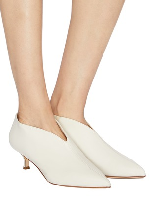 Figure View - Click To Enlarge - Tibi - 'Joe' leather choked-up leather pumps