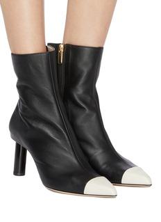Tibi 'Grant' cylindrical heel colourblock toe ankle boots