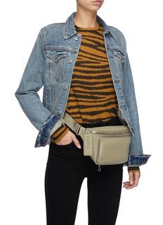 KARA Pebbled leather bum bag