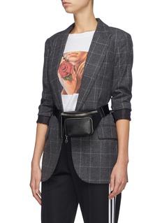 KARA Small pebbled leather bum bag
