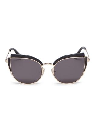 Main View - Click To Enlarge - Stephane + Christian - 'Inca Rose' contrast corner metal cat eye sunglasses