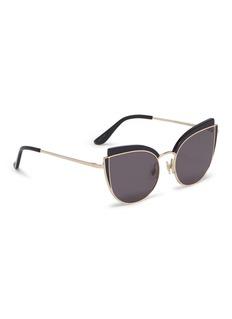 Stephane + Christian 'Inca Rose' contrast corner metal cat eye sunglasses