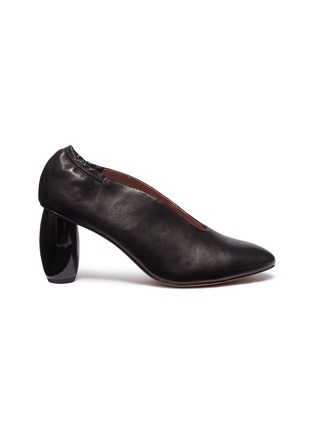 58586676183fa Pedder Red  Nanci  wooden heel choked-up leather ...