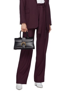 Delvaux 'Brillant East West PM' ball buckle leather satchel