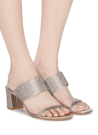 Figure View - Click To Enlarge - Pedro García - 'Xina' strass satin sandals