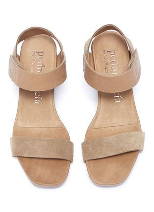 Detail View - Click To Enlarge - PEDRO GARCÍA - 'Cody' suede and leather sandals
