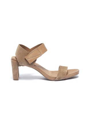 Main View - Click To Enlarge - Pedro García - 'Cody' suede and leather sandals