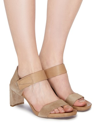 Figure View - Click To Enlarge - Pedro García - 'Cody' suede and leather sandals