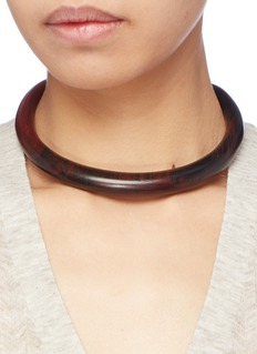 Sophie Monet 'The Luna' crescent wood choker