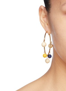 Sophie Monet 'The Maraca' bead hoop earrings