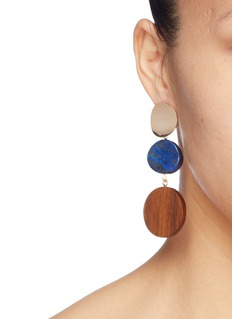 Sophie Monet 'The Arlo' disc drop earrings