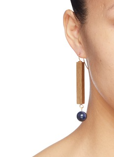 Sophie Monet 'The Blue Tower' drop earrings