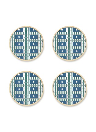 Main View - Click To Enlarge - Wolfum - Steph coaster set – Blue mirror