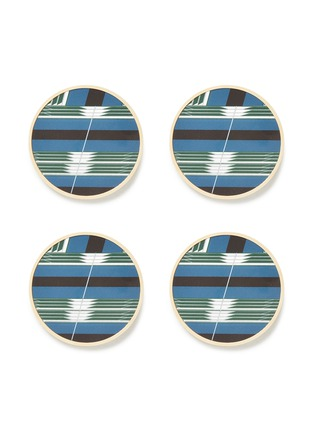 Main View - Click To Enlarge - Wolfum - Graphic coaster set –Blue Mirror