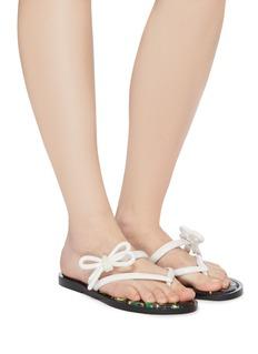 Melissa x Jason Wu bow band PVC flip flops