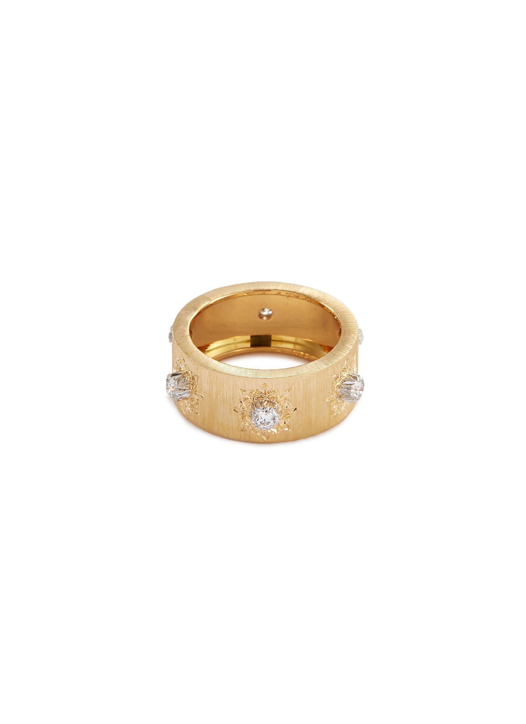 'Macri' diamond gold ring