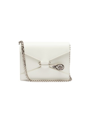 Main View - Click To Enlarge - ALEXANDER MCQUEEN - Beetle pin leather crossbody bag