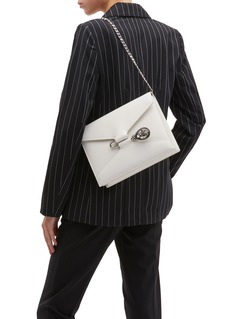 Alexander McQueen Beetle pin leather crossbody bag